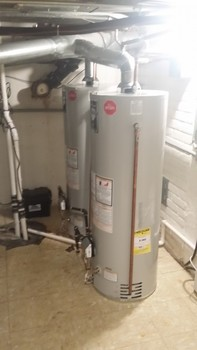 Installed two 40 gallon water heaters Mundelein, IL