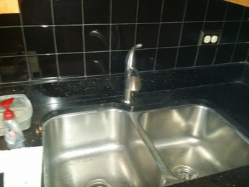 Installed new under mount kitchen sink and faucet, IL